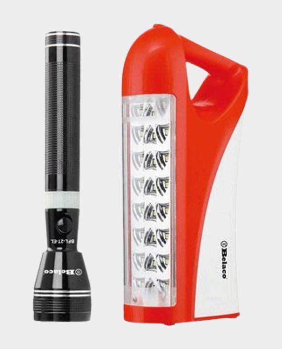Belaco BFL-2T-EL Rechargeable LED Emergency Lantern with Flashlight in Qatar