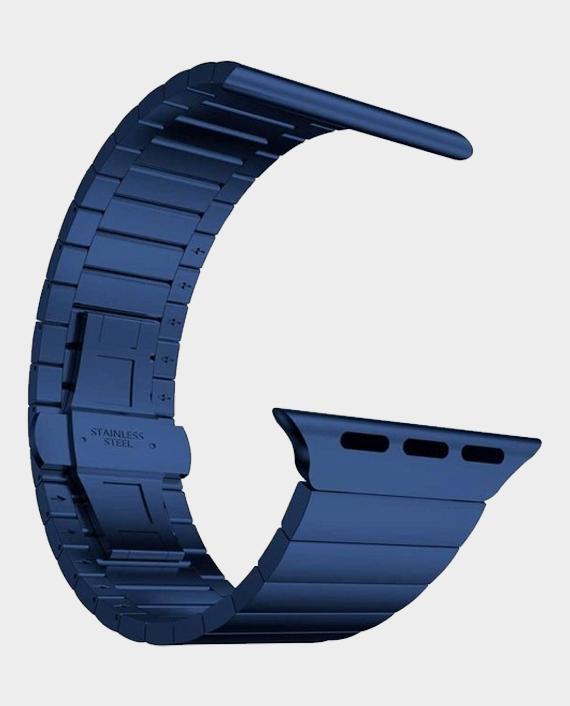 Green GNSTPST44BL Acero Correa Link Bracelet for Apple Watch 42/44mm Blue in Qatar