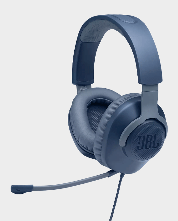 JBL Quantum 100 Wired Over-Ear Gaming Headphones Blue in Qatar