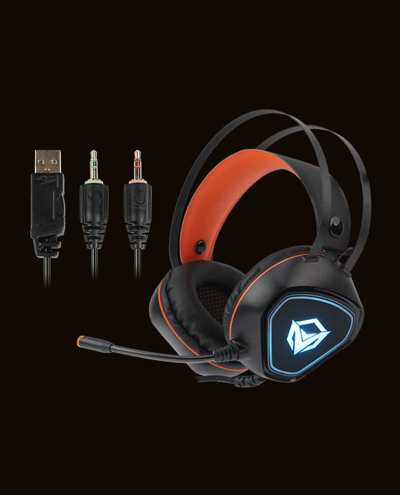 Meetion MT-HP020 Backlit Gaming Headset with Mic Black