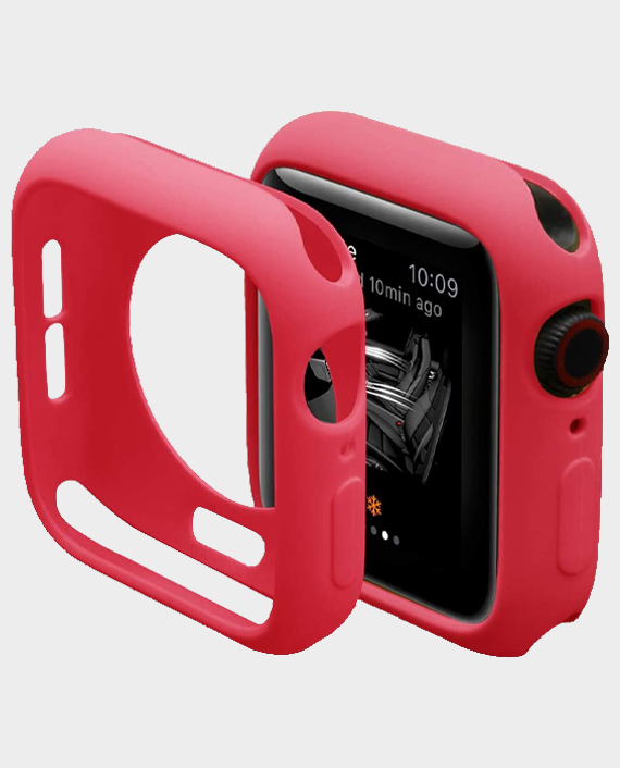 Green GNSTYGW44RD Stylin Guard Pro Case For Apple Watch 44mm Red in Qatar