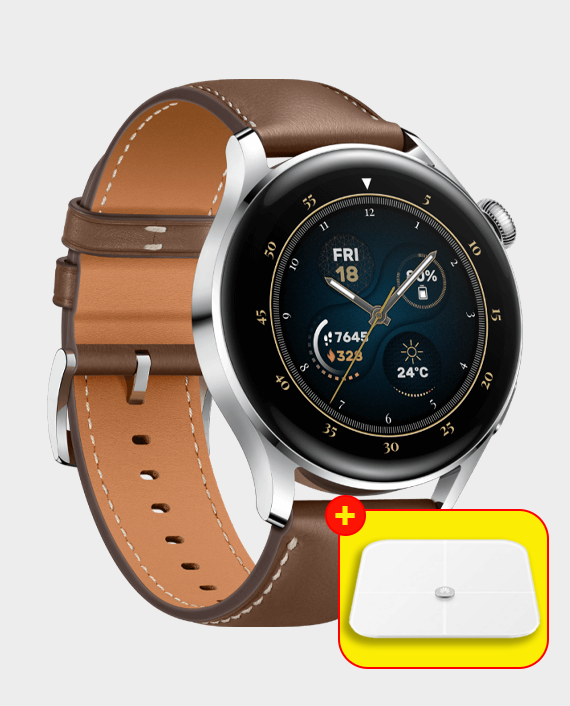 Huawei Watch 3 Classic LTE Stainless Steel Brown