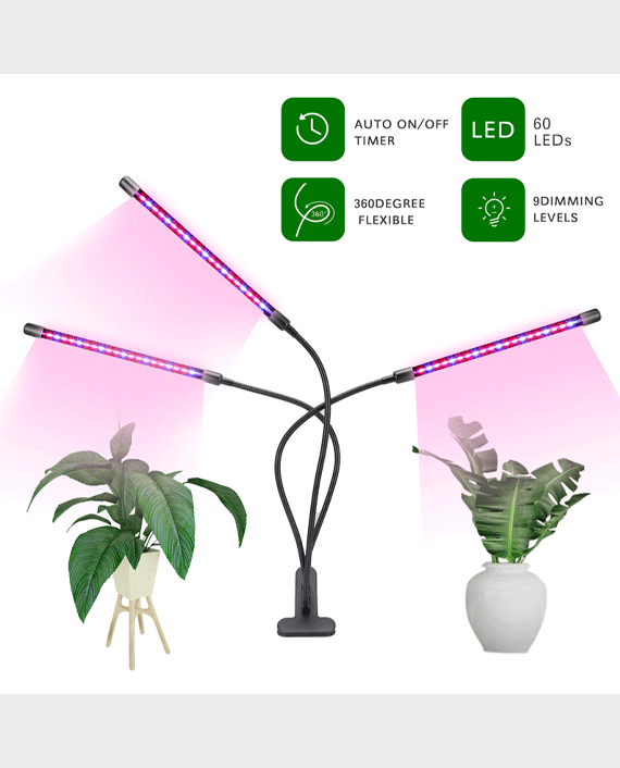 Glint LED Table Grow Light 3 Heads With Chip 40W