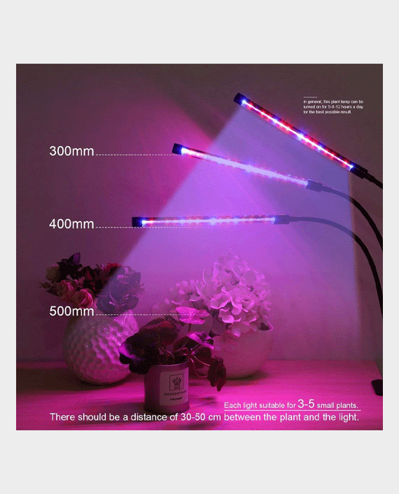 Glint LED Table Grow Light -3 Heads With Chip 40W in Qatar