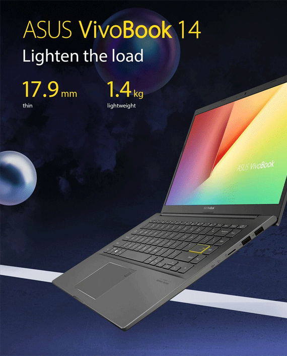 Asus VivoBook 14 K413EQ-EB245T Intel Core i5-1135G7 8GB RAM 512GB SSD 2GB NVIDIA GeForce MX350 Graphics 14 inch FHD Windows 10