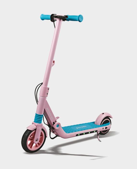 Porodo Electric Kids Scooter with Helmet 200W Pink in Qatar
