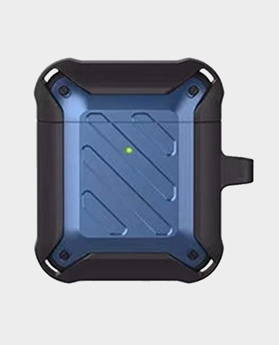 Protective Case for Airpods 2 & 1 - Blue/Black in Qatar