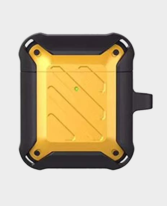 Protective Case for Airpods 2 & 1 Yellow/Black in Qatar