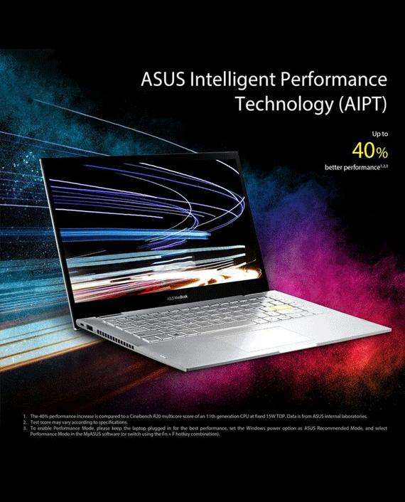 Asus VivoBook Flip 14 TP470EZ-EC017T Intel Core i5-1135G7 8GB RAM 512GB SSD 14 inch FHD Touch Screen 4GB Intel Iris Xe Max Graphics Windows 10