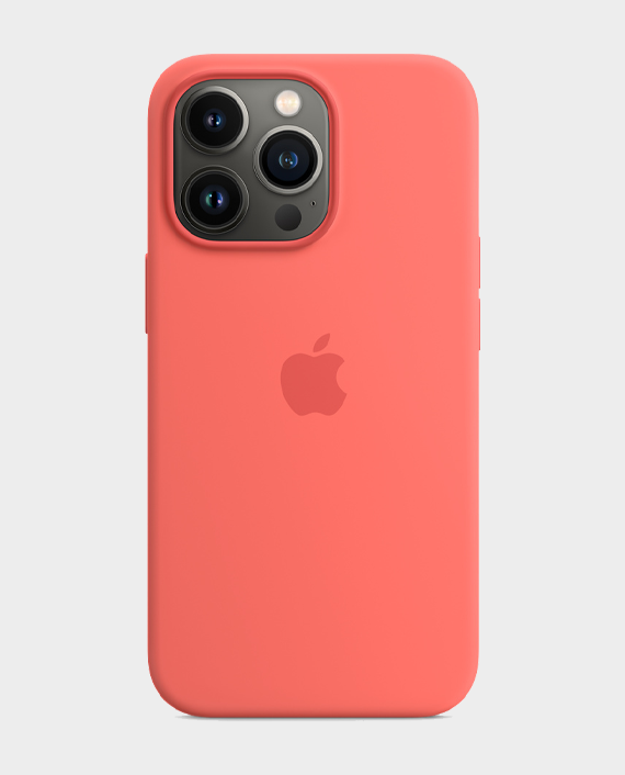 Apple iPhone 13 Pro Max Silicone Case with MagSafe Pink Pamelo in Qatar