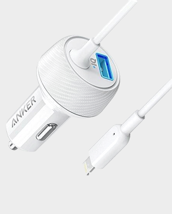 Anker PowerDrive 2 Elite with Lightning Connector UN White in Qatar