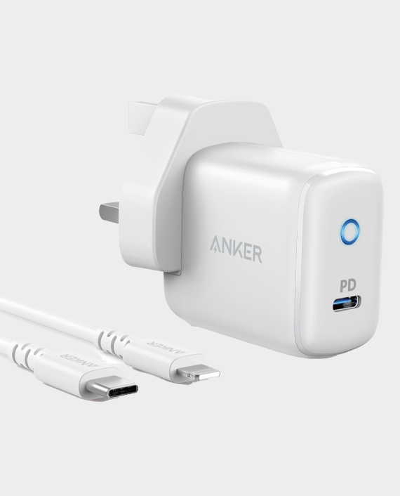 Anker PowerPort PD 1 Wall Charger with Type-C to Lightning Cable White in Qatar