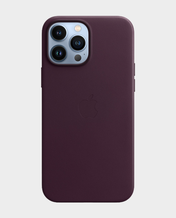 Apple iPhone 13 Pro Max Leather Case with MagSafe Dark Cherry in Qatar