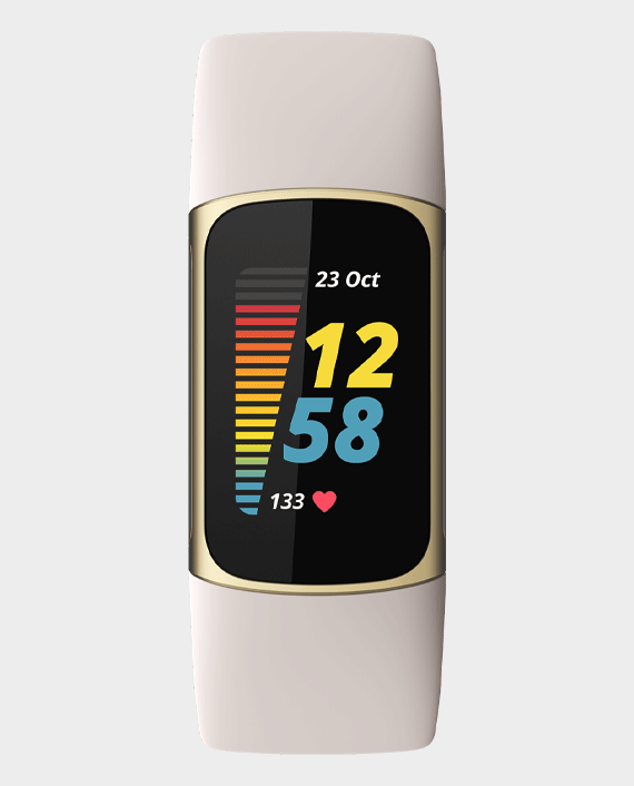 Fitbit Charge 5 Advanced Fitness And Health Tracker Gold/White in Qatar