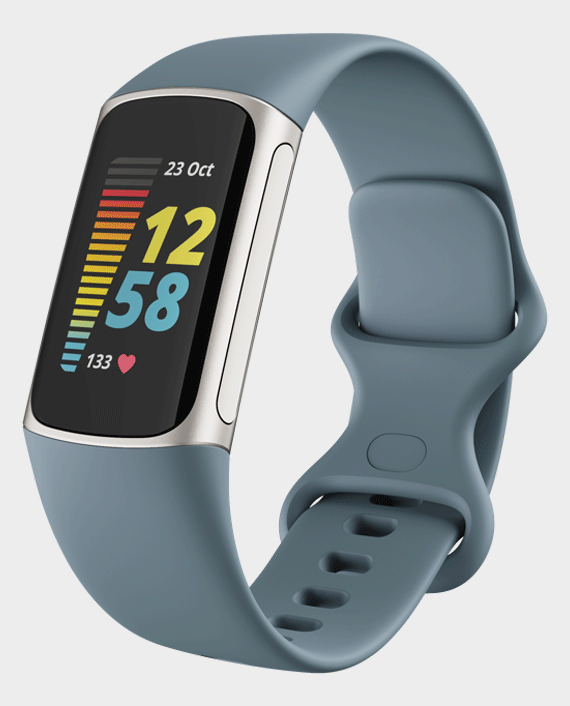 Fitbit Charge 5 Advanced Fitness And Health Tracker Platinum Blue