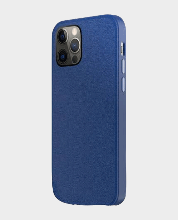 Green Luju MagSafe Leather Case for iPhone 13 Pro Max Blue in Qatar