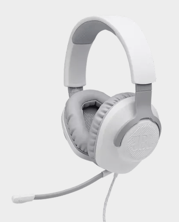 JBL Quantum 100 Wired Over Ear Gaming Headphones White in Qatar