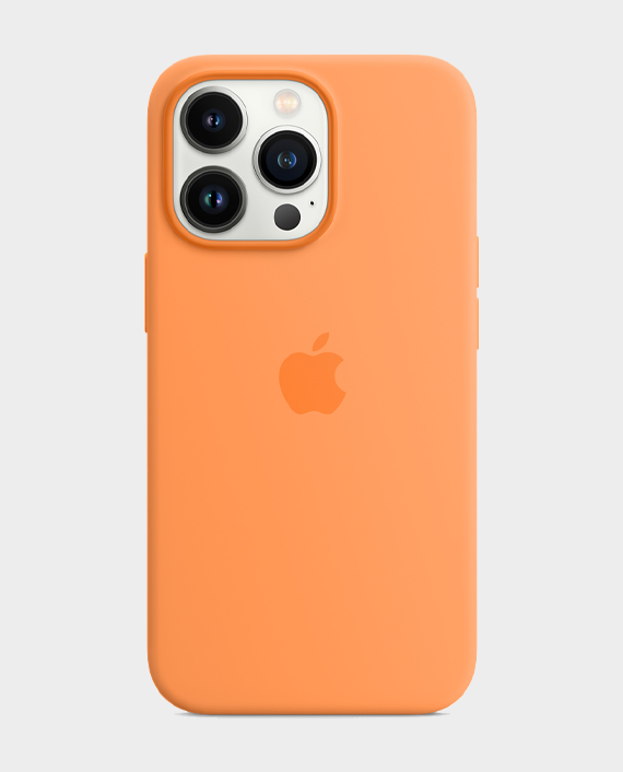 Apple iPhone 13 Pro Max Silicone Case with MagSafe Marigold in Qatar