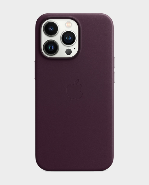 Apple iPhone 13 Pro Leather Case with MagSafe Dark Cherry in Qatar